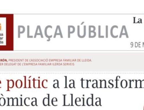Artícle MARC CERÓN diari La Manyana 9 Maig 2021: «El fre polític a la transformació económica de Lleida»