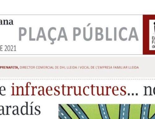 PLAÇA PÚBLICA: LA MANYANA 6 JUNY 2021: JAUME PRENAFETA, vocal Associació Empresa Familiar Lleida